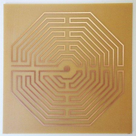 Placa Labirinto D'Amiens M - Gráfico em Cobre
