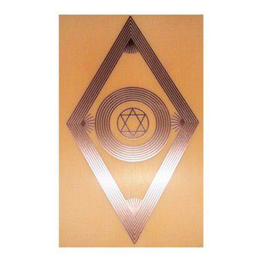 Placa Radiônica Justiça Divina - Gráfico em Cobre