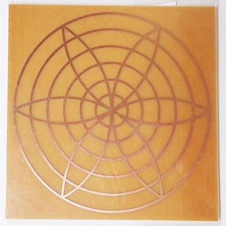 Placa Irradiador Energético G - Gráfico em Cobre