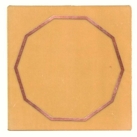 Placa Decágono G - Gráfico em Cobre