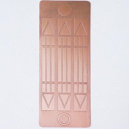 Placa Luxor Mini  Cobre Maciço 2,5 cm x 6 cm