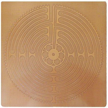 Placa Labirinto Chartres – Cobre Maciço