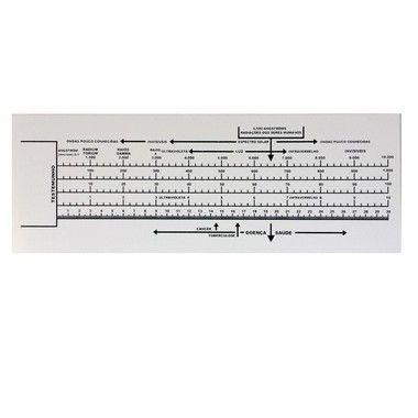 Biômetro de Bovis ou Régua de Bovis - Em PVC