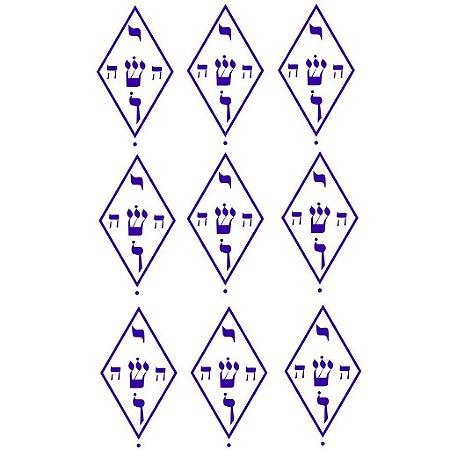 Adesivo Radiônica Ioshua PQ Violeta 9 peças