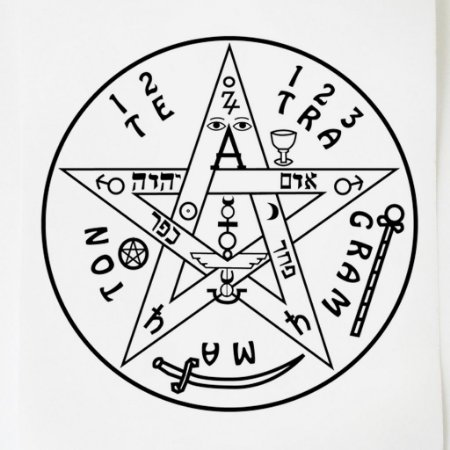 Adesivo Radiônica Tetragrammaton GR 3 peças