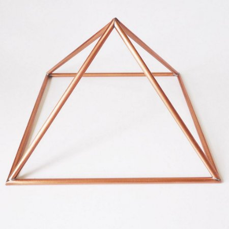 Piramide de Cobre Base 10 cm