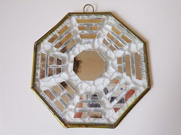 Baguá em vidro e espelhos Médio