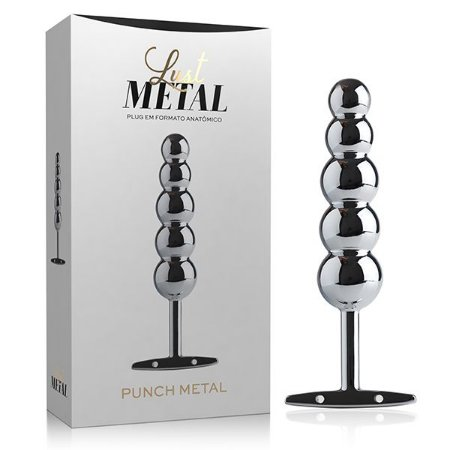 PLUG ANAL ESCALONADO LUST METAL PUNCH