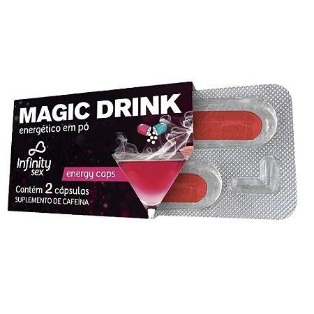 ENERGÉTICO ESTIMULANTE QUE AUMENTA A VONTADE NA HORA DO SEXO - MAGIC DRINK 2 CÁP.