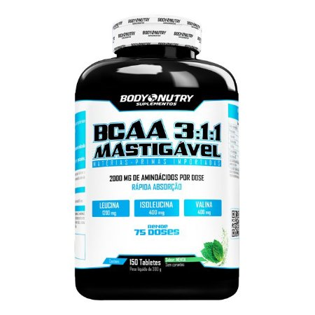BCAA 3:1:1 Mastigável Body Nutry 150 tabletes