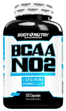 BCAA NO2 Arginina Body Nutry 120 cápsulas