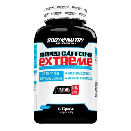 Ripped Caffeine Extreme Body Nutry 60 cápsulas