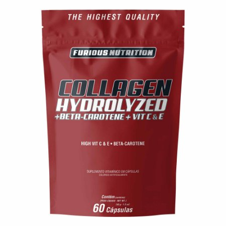 Collagen Hydrolyzed Furious Nutrition 60 cápsulas
