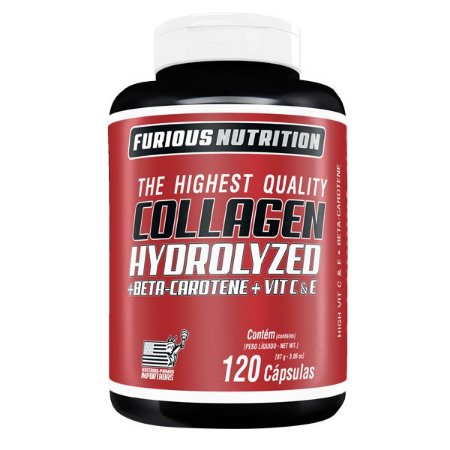 Collagen Hydrolyzed Furious Nutrition 120 cápsulas