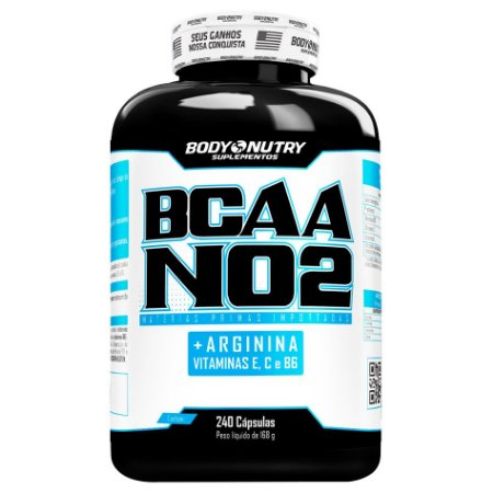 BCAA NO2 Arginina Body Nutry 240 cápsulas.