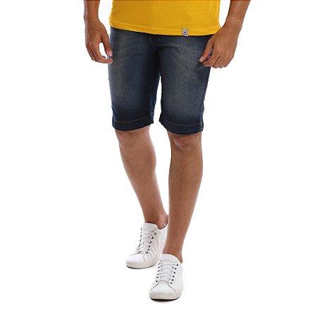 Bermuda Jeans Masculina Escura Sujinha Estonada Bamborra
