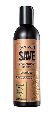 Shampoo Yenzah Save para reconstrução capilar 240ml