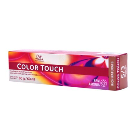 Tonalizante Color Touch Wella 5/3 Castanho Claro Dourado
