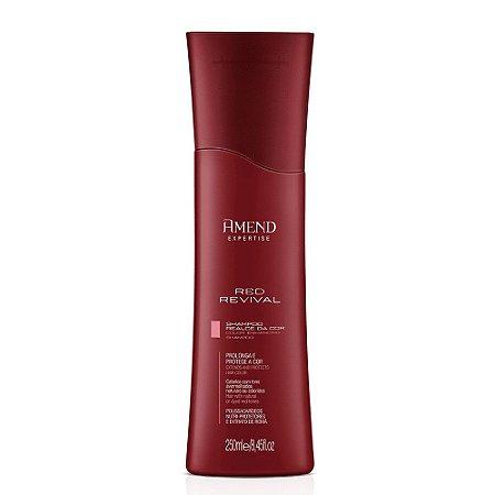 Shampoo Realce da Cor Vermelha Red Revival Amend 250ml