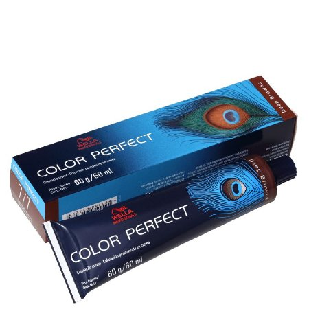 Tintura Color Perfect Wella 7/7 Louro Médio Marrom