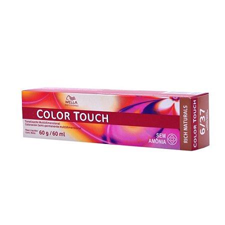 Tonalizante Color Touch Wella 6/37 Louro Escuro Dourado Marrom