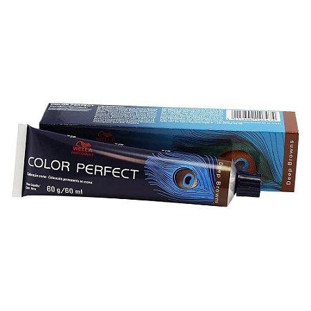 Tintura Color Perfect Wella 7/77 Louro Médio Marrom Intenso