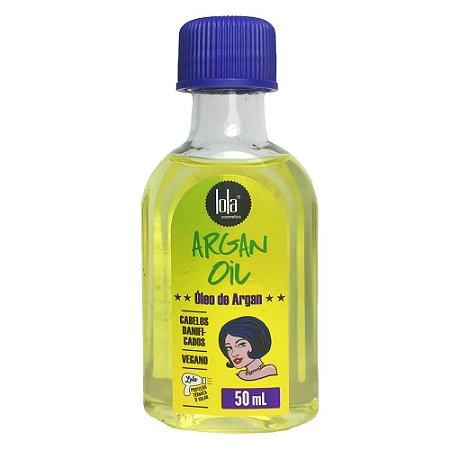 Oleo Reparador com Preteção Termica Lola Cosmetics Argan 50ml