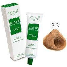 Tintura Keune So Pure Color 8.3 Louro Claro Dourado 60ml