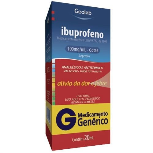 Ibruprofeno 100mg/ml  gotas 30ml