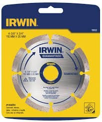 Disco Diamantado Irwin Segmentado 110mm x20mm
