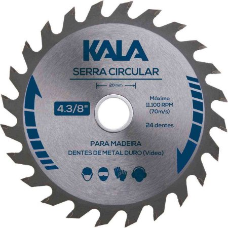 SERRA CIRCULAR 4 3/8 X 24 DENTES 110MM