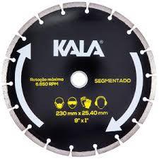 Disco Diamantado Segmentado 9 Polegada 230X25;4MM - Kala