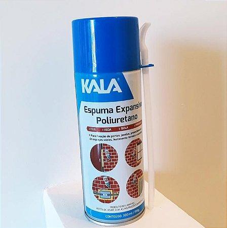 Espuma Expansiva Poliuretano Spray Kala 300ml/190g Caixa 12 Unidades