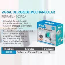 VARAL PAREDE 1 CORDA RETRATIL COM 12M - KALA