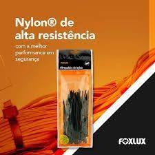 ABRACADEIRA NYLON FOXLUX  PRETA 4,8X280 COM 10 UN