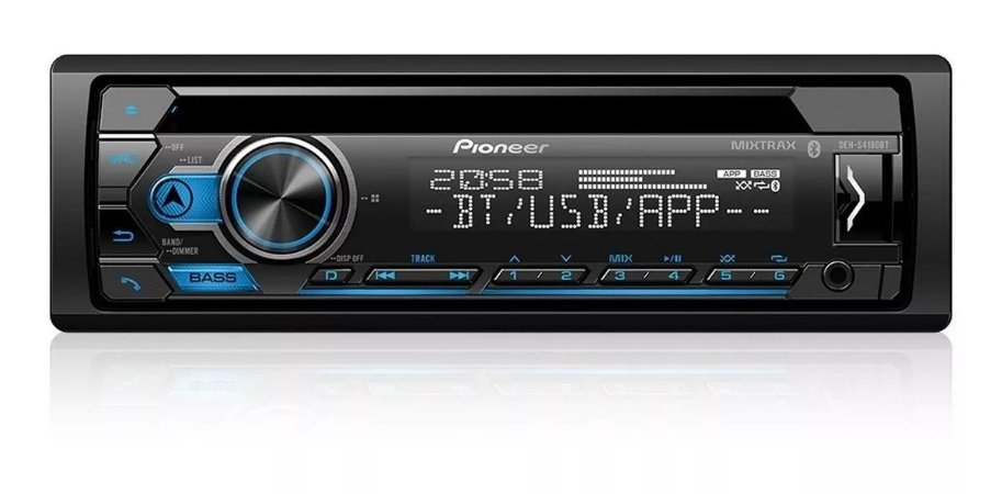 CD Player Bluetooth, Pioneer, DEH-S4180BT, CD e MP3 Player