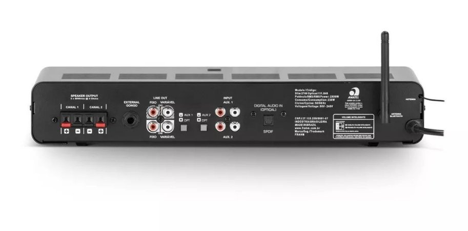 Amplificador Frahm Slim 3700 App Mult Channel Bluetooth
