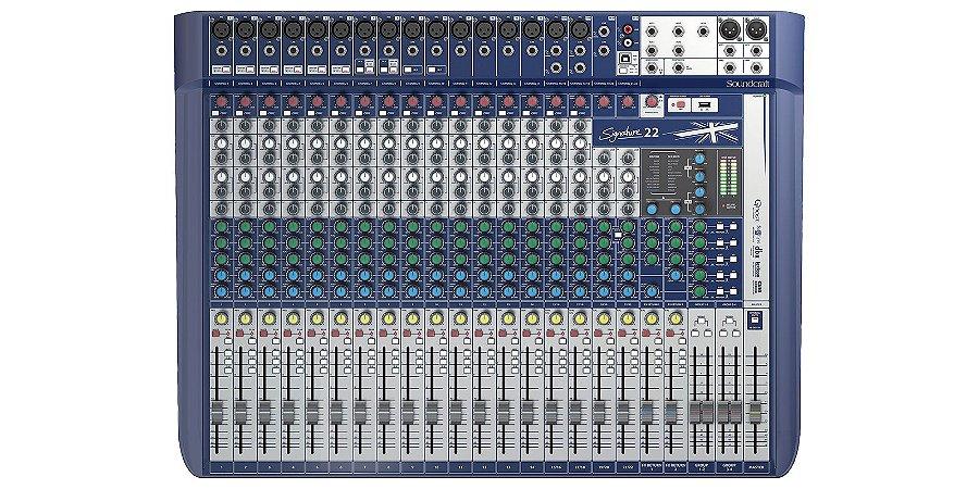 Mesa de som Signature 22MTK JBL 22 Canais