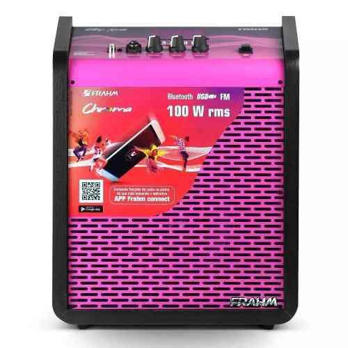 Caixa De Som Frahm Chroma Cr400 Usb Bt 100 Wrms Pink