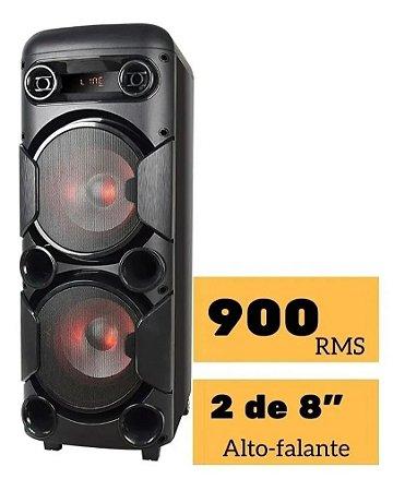 Caixa De Som Torre 900w Bt/usb/aux Multilaser Sp380