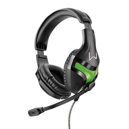 Headset Gamer Warrior Harve P2 Stereo Preto E Verde PH298