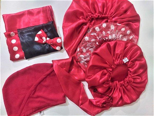 Kit Especial de Natal Poá Vermelho