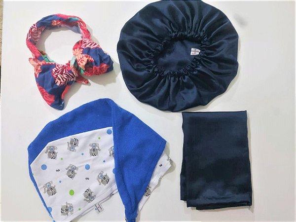Kit Especial de Natal Azul Marinho