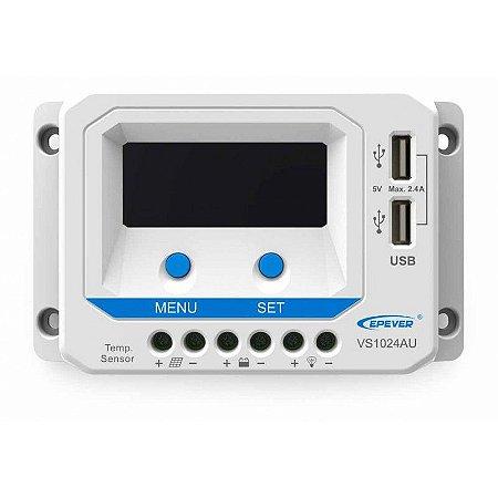 Controlador de Carga PWM 10A 12/24V - Epever Viewstar VS1024AU