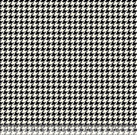 Tecido Tricoline Pied De Poule Preto 4025-01