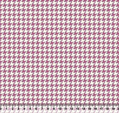 Tecido Tricoline Pied De Poule Rosa 4025-03