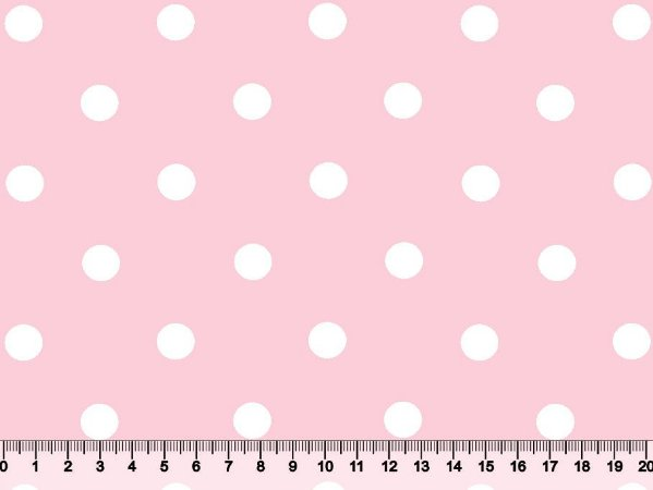Tecido Adesivado Poá 2 Bol Branco e Fundo Rosa Bebê V499-2128-13 -- 0,50 m x 1,00 m
