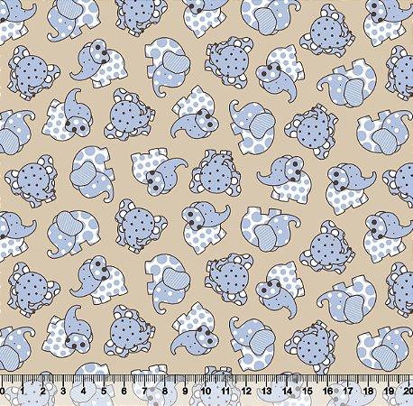 Tecido Adesivado Elefantinho V499-2173-02 -- 0,50 m x 1,00 m -- 0,50 m x 1,00 m