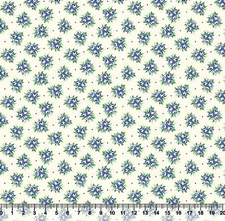 Tecido Adesivado Buquê de Rosas V499-6019-09 -- 0,50 m x 1,00 m