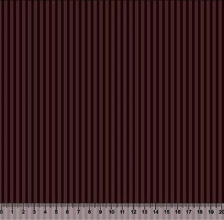 Tecido Adesivado Listrado Marrom V499-2441-02 -- 0,50 m x 1,00 m
